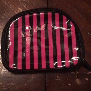 Avon cosmetic makeup vinyl zipper bag